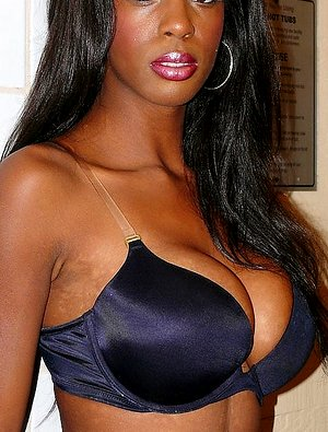 Big titted amateur with black skin all naked