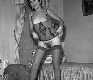 Sexy moms in vintage-style pics