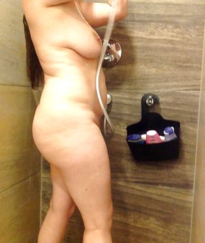 shaved in the shower