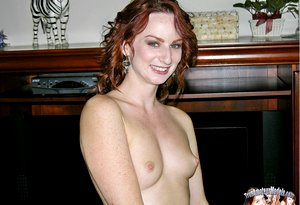 Amateur Redheaded Babe Spreading And Modeling Nude