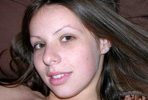 Hot Brunette Amateur Babe Modeling Nude