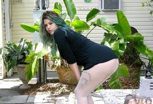 Amateur Teen Nudist Modeling And Showering Outdoors - Destiny D. Model