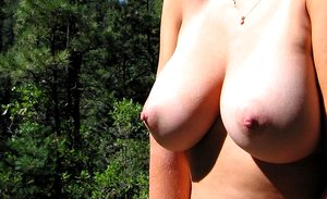 Naughty amateur babes display their huge round breasts