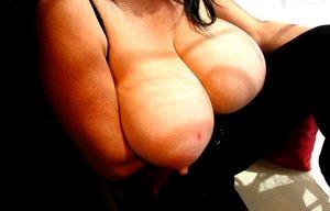 Older latin slut exposed her super large breasts